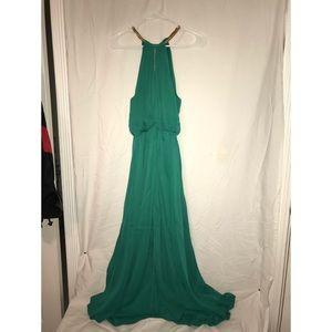 Long Green Lulus Formal Dress